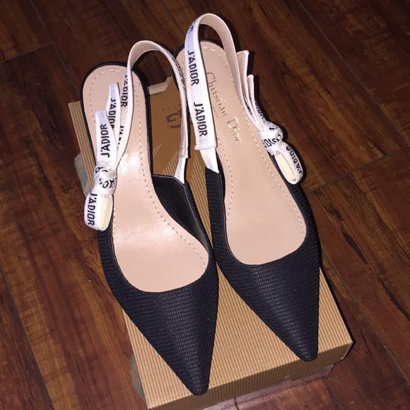 08f2a3213f Dior Shoes   Christian Slingback Pumps   Poshmark